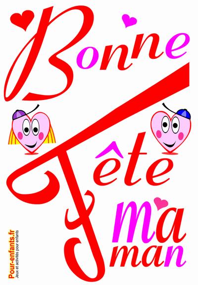 Bonne fête maman à imprimer coeurs d'amour fête des mères dessin à imprimer coloriage fête des mamans