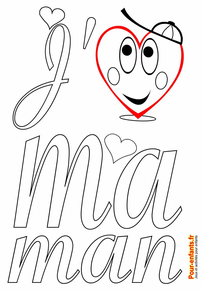 Coloriage f te des m res amour fete des meres coloriages imprimer mere maman maternelle - Dessin pour maman ...
