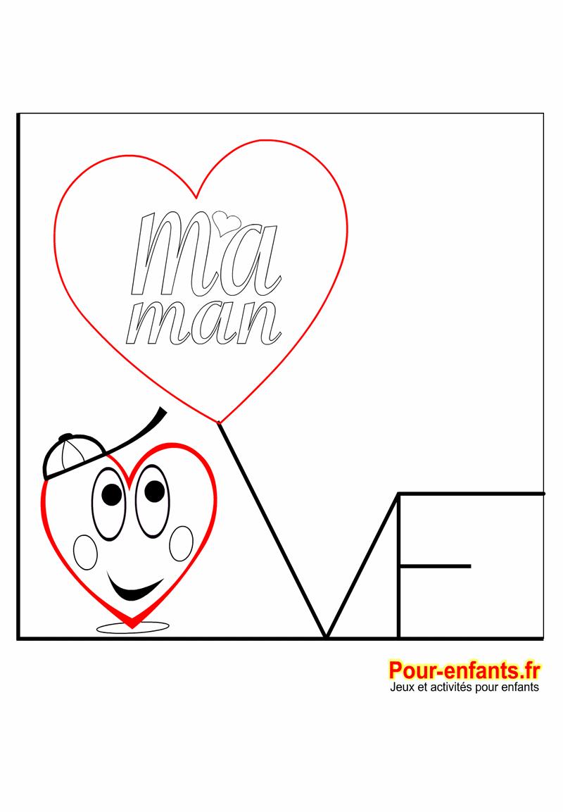 Coloriage A Imprimer Coeur Maman.Coloriage Coeur D Amour Garcon Fete Des Meres Love Maman Imprimer