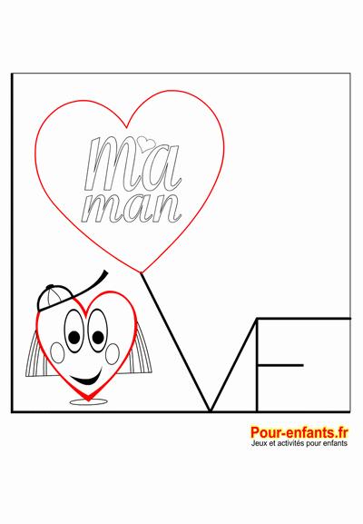 fête des mères coloriage coeur d'amour fille à imprimer love maman coeurs d amour fête des mamans