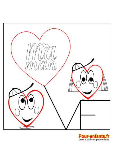 fête des mères coloriage à imprimer love maman coeurs d amour fête des mamans